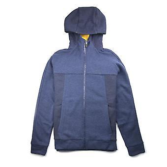 Hugo Boss Selwyn zip opp hettegenser blå