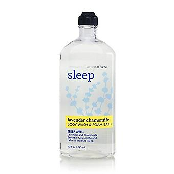 Baie & Body Works Aromatherapy Sleep Lavender Musetel Body Wash & Foam Bath 10 fl oz / 295 ml (Pachet de 2)