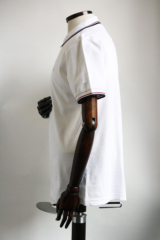 Merc London Card White Cotton Polo Shirt