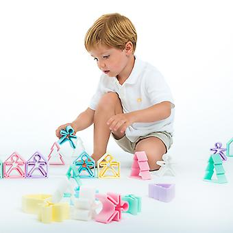 Dena Silikon Spielzeug - 2 Stück Set Pastell gelb