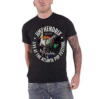 Jimi Hendrix T Shirt Atlanta Pop Festival 1970 new Official vintage Mens Black