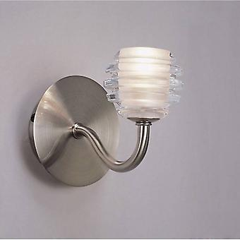 Sphere Wall Lamp Switched 1 Light G9, Satin Nickel