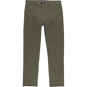 Element Howland Classic Chino Trousers in Forest Night