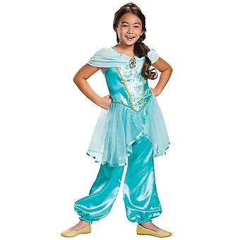 Jasmine Classic Disney Aladdin Princess Genie Book Week Child Girls Costume