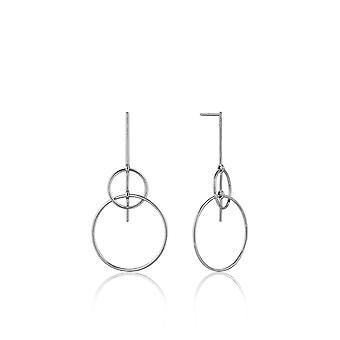 Ania Haie Sterling Silver Rhodium Plated Solid Drop Earrings E008-19H