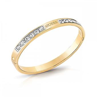 Guess Jewellery Guess Front Crystal Gold Guess Bangle UBB78062-L