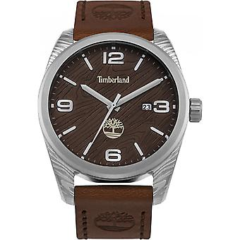 Timberland Mens Gents Jaffery Wrist Watch Brown Leather Strap15258JS/12