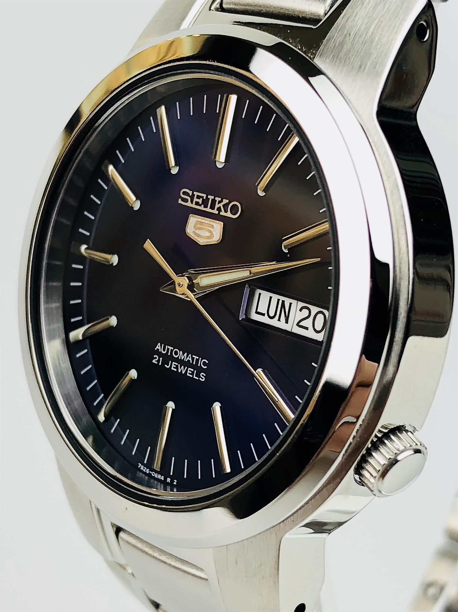 Seiko 5 Automatic Blue Dial Stainless Steel Men's Watch SNKA05K1