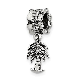 925 Sterling Silver finish Reflektioner Palm Dingla Pärla Charm Hängande Halsband Smycken Gåvor för kvinnor