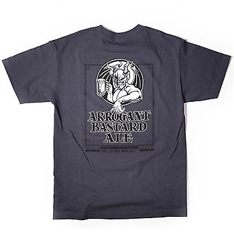Arrogant Bastard Grey Logo T-Shirt