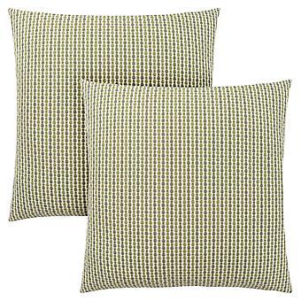 """18"""" x 18"""" Light/Dark Green, Abstract Dot - Pillow 2pcs"""