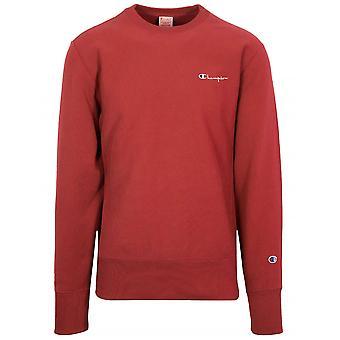 Champion Champion Reverse Weave Red Logo Sweatshirt