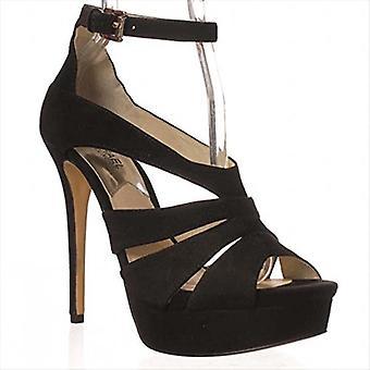 MICHAEL Michael Kors Leighton Ankle Strap Sandals - Black