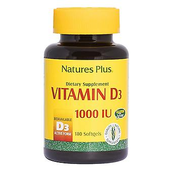 Nature's Plus Vitamin D3 1000iu Softgels 180 (1042)