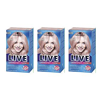Schwarzkopf 3 X Schwarzkopf Live Colour Lightener + twist-cool Rose 101
