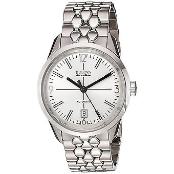 Bulova Men's Silberne Zifferblatt Uhr - 63B177