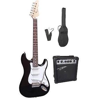 MSA Musikinstrumente 301750 Electric guitar kit Black incl. gig bag, incl. amplifier