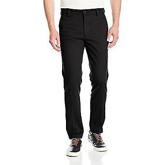 Dockers Men's Slim Tapered Easy Khaki Pants,, Black (Stretch), Size 32W x 32L