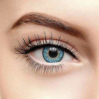 Sky Blue Tri Tone Coloured Contact Lenses (90 Day)