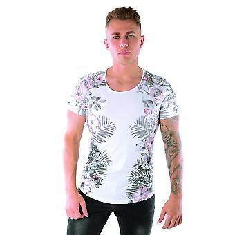 Religie 29bvsf02 Bloemenbloemenprint halfmouw T-shirt