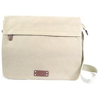 Mens / Ladies Work Bag / Large Messenger Canvas Bag with Removable Inner Sleeve ( Olive Green )