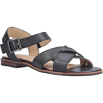 Hush Puppies Womens Lila Durable Leather Buckle Sandals