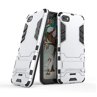HATOLY iPhone 6S Plus - Robotic Armor Case Cover Cas TPU Case White + Kickstand
