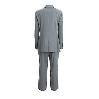 Brunello Cucinelli Mf5918985c7903 Women's Blue Linen Blazer