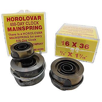 Clock mainspring horolovar 400 day (anniversary)