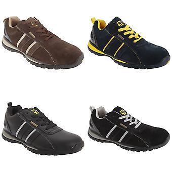 Grafters Mens sikkerhet Toe Cap trener sko