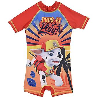 Meninos SE1951 Paw Patrol Short Sleeve One Piece Sun Protection Wetsuit / Swimsuit