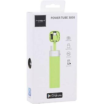 MiPow Power Tube 3000 Portable Charger for Apple Devices with App Control - Green
