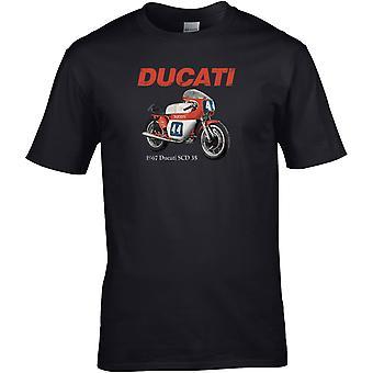 Ducati SCD 35 Classic - Motorcykel Biker - DTG Tryckt T-shirt