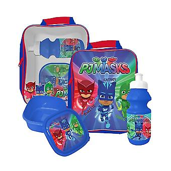 PJ Masks The Pajama Heroes bag with lunchbox and water bottle