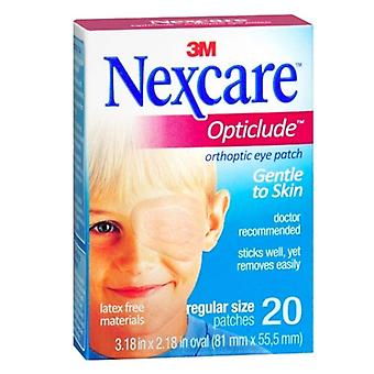 Nexcare opticlude orthoptic eye patch, regular size, 20 ea