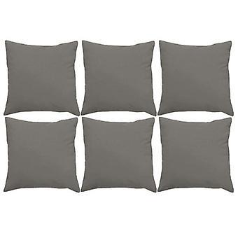 "Gardenista Premium Water Resistant Outdoor Foam Crumb Filled 18"" Garden Furniture Scatter Cushion - 6 Pack (Grey)"