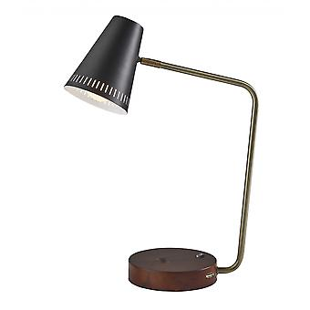 "6.25"" X 13.5"" X 18"" Black Metal Wireless Ladebordlampe"
