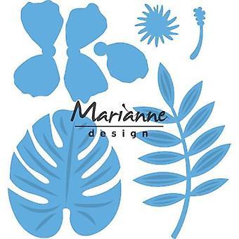 Marianne Design Creatables Cutting Dies - Hibiscus & Tropische bladeren LR0478
