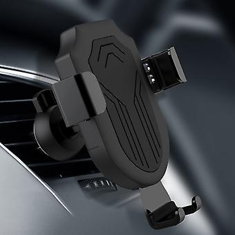 5w qi wirelesss charge gravity linkage automatical lock car stand air vent holder for iphone mobile phone