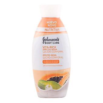 Papaya Dry Skin Body Lotion Vita-Rich Johnson's 11012