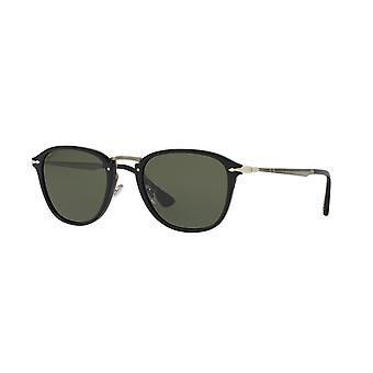 Persol Calligrapher Edition Black/Polarised Green Sunglasses