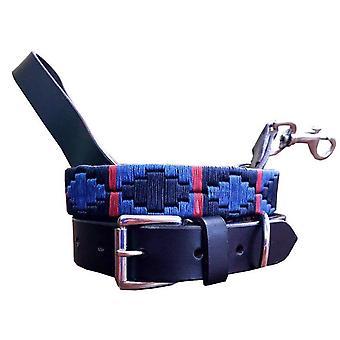Carlos Diaz echtes Leder Polo Hundehalsband und Blei-Set cdkupb411