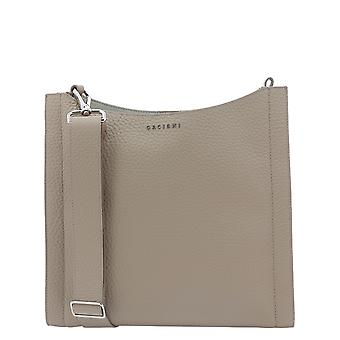 Orciani B01986softconchiglia Women's Beige Leather Shoulder Bag
