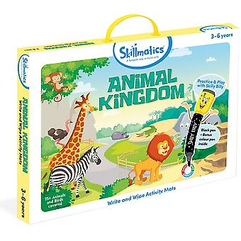 Skillmatics Animal Kingdom Write & Wipe Activity Pack Preschool Ages 3-6 Years