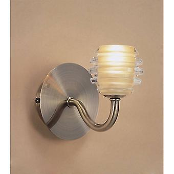 Sphere Wall Lamp Switched 1 Light G9, Antique Brass