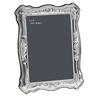 Orton West Curved Edge Photo Frame 4x5 - Silver