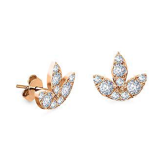 Ohrringe Diamant Flügel Ohrstecker 18K Gold und Diamanten (Einzelstück)