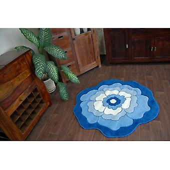 Teppich Kinder CIRCLE HAPPY C273 FLOWER blau