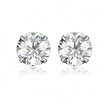 Silver Earrings Studs - 6558