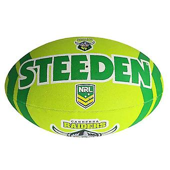 Steeden NRL Canberra Raiders Supporter 2020 Rugby League Ball Green/Navy Blue